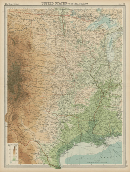 Associate Product Central United States. Mississippi valley. Midwest Plains Rockies TIMES 1922 map