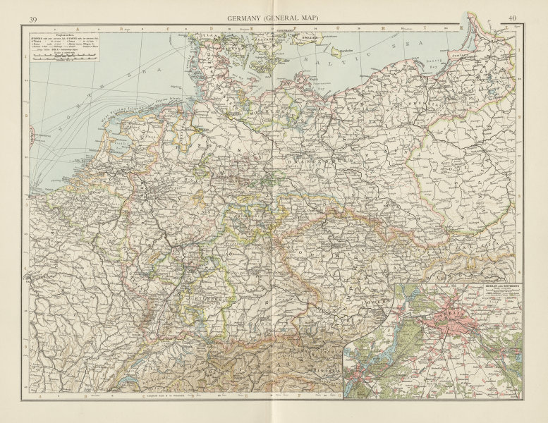 Map Of Germany 1900.Details About Germany Poland Prussia Berlin Environs Benelux The Times 1900 Old Map