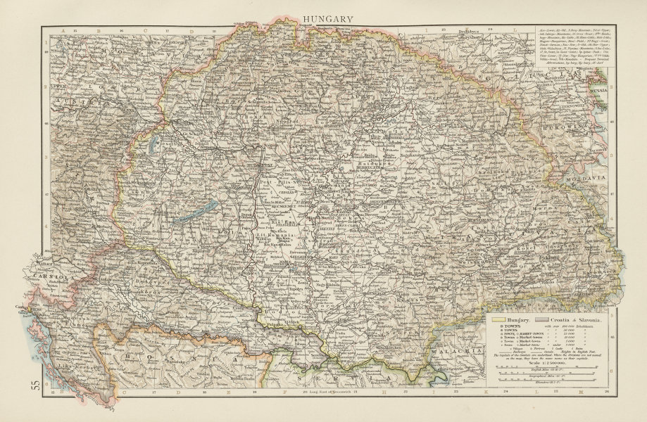 Associate Product Hungary, Croatia & Slavonia. Slovenia. THE TIMES 1900 old antique map chart