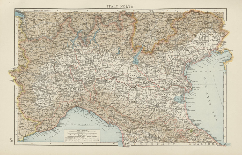 Associate Product Northern Italy. Po valley. THE TIMES 1900 old antique vintage map plan chart