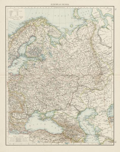 Associate Product European Russia. Baltic Caucasus Ukraine Black & Caspian seas. TIMES 1900 map