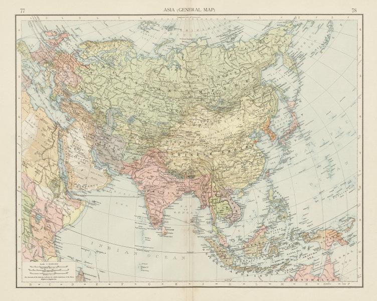 Associate Product Asia. Persia Hadramut British India Siam Annam Chinese Empire. TIMES 1900 map