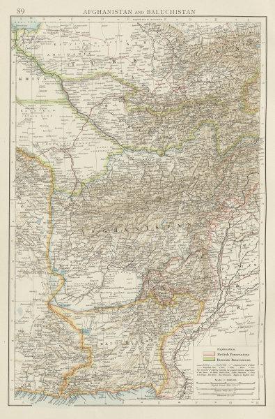 Central Asia. Afghanistan Baluchistan Pakistan Uzbekistan Bokhara TIMES 1900 map