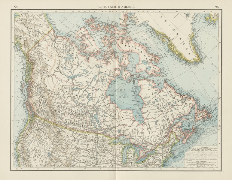 Details about British North America. Canada. THE TIMES 1900 old antique map  plan chart