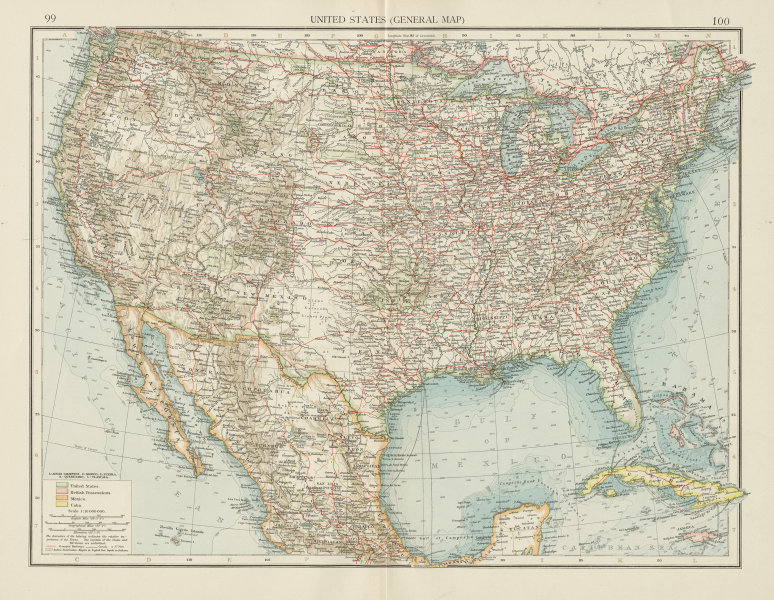 Associate Product United States showing railways, forts & Indian Reservations. THE TIMES 1900 map