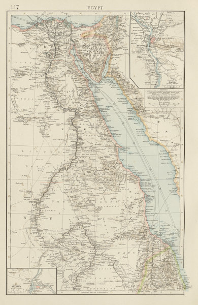 Associate Product Egypt. Nile Valley. Khartoum & Cairo environs. Red Sea. THE TIMES 1900 old map