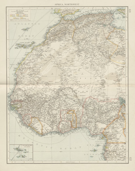 Map Of Africa Nigeria.Details About Colonial Africa North West British French Nigeria Sahara The Times 1900 Map
