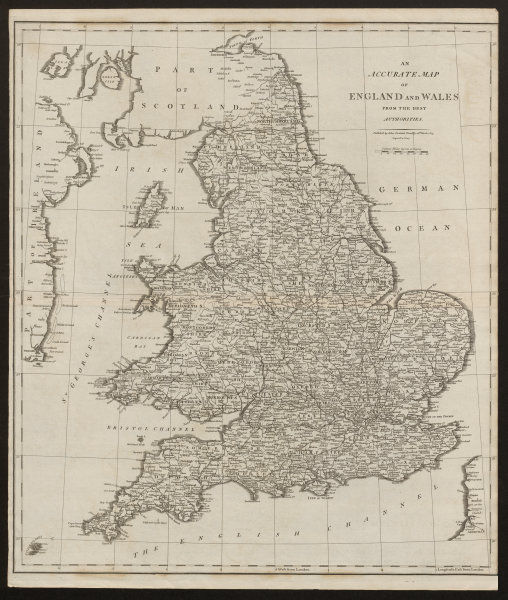 """""""An accurate map of England and Wales from the best authorities"""". CARY 1805"""