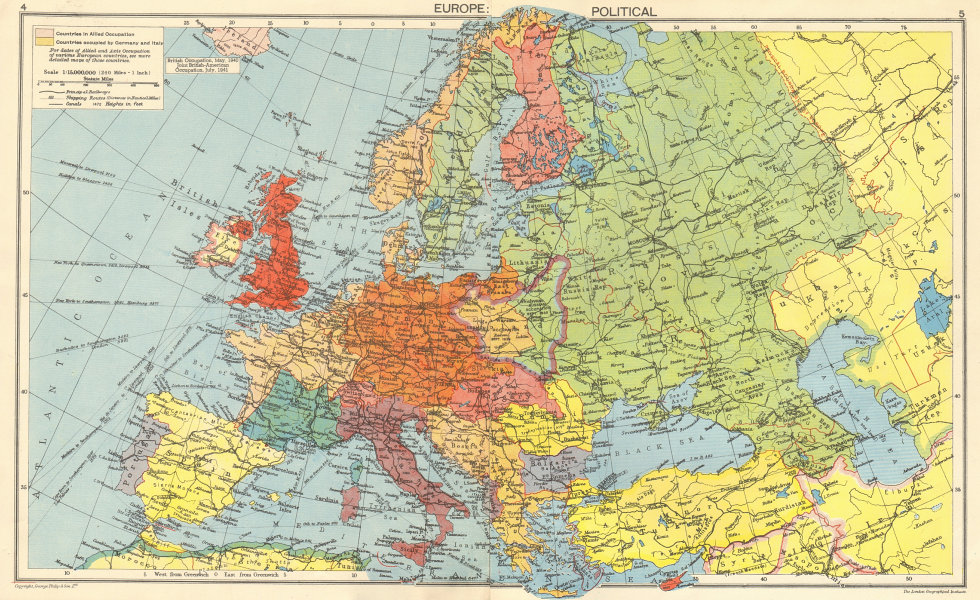 SECOND WORLD WAR. Nazi-Germany Axis Occupied Europe. Divided Poland ...