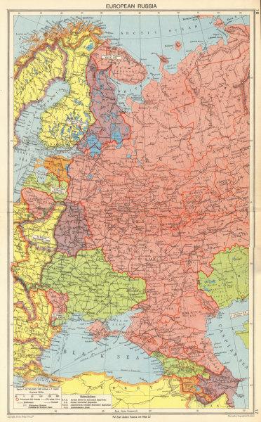 Associate Product WORLD WAR TWO. European Russia. Russian Crimea Poland & Finland 1942 old map