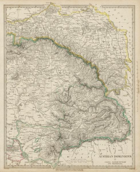 Associate Product AUSTRIAN DOMINIONS.Galizia Eastern Hungary Transylvania Galicia SDUK 1844 map
