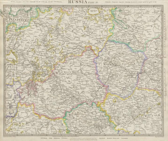 Associate Product RUSSIA.Novgorod Tver Smolensk Vologda Iarolslav Moscow Vladimir SDUK 1844 map