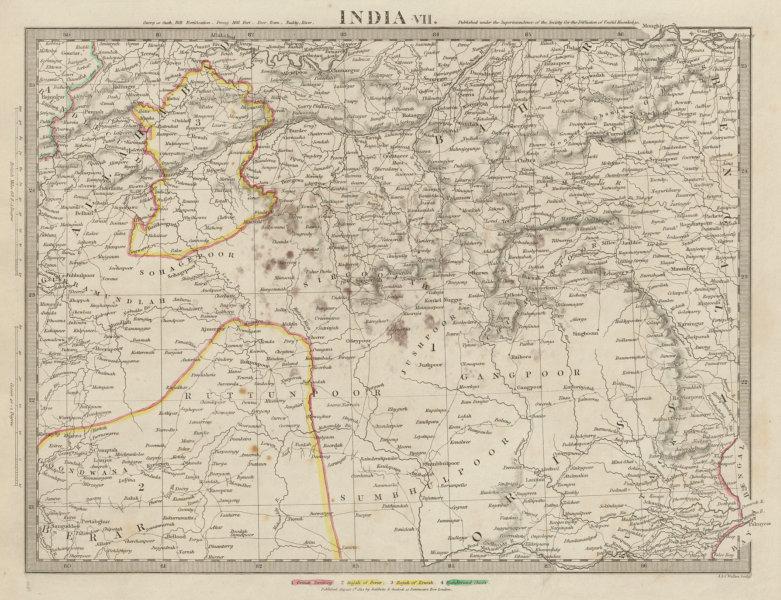 Associate Product INDIA.Allahabad to Bay of Bengal.Bahar. Berar Orissa Ruttunpoor SDUK 1844 map