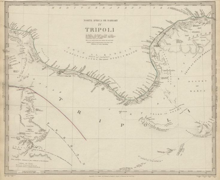 Golfo De Sirte Mapa.Details About Libya Gulf Of Sidra Sirte North Africa Or Barbary Tripoli Fezzan Sduk 1844 Map