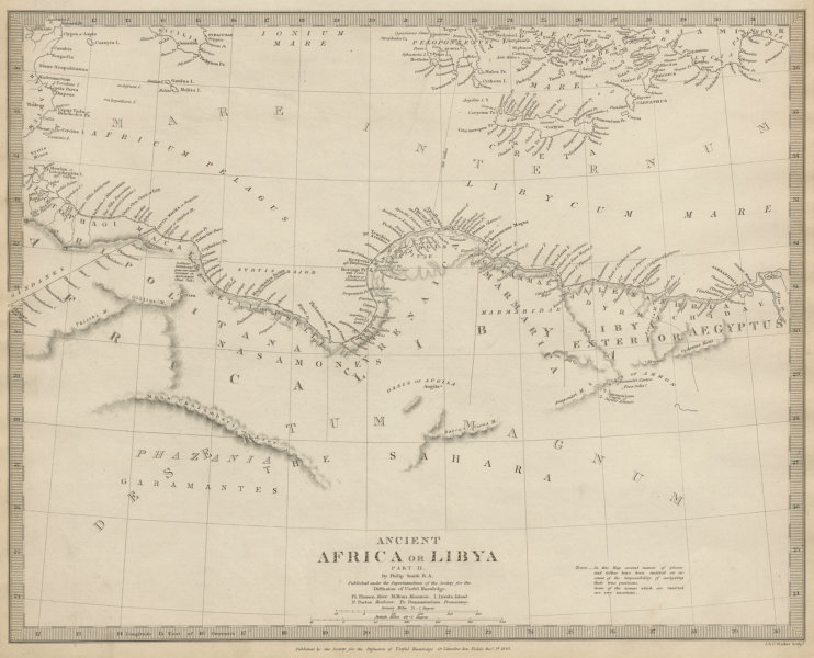 Associate Product ANCIENT NORTH AFRICA. Syrtis Minor to Alexandria. Libya & Egypt. SDUK 1844 map
