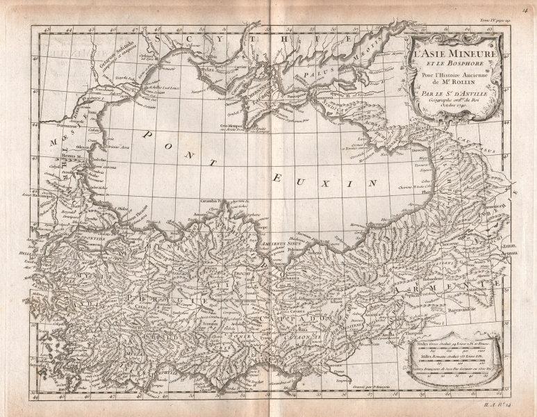 Associate Product L'Asie Mineure & le Bosphore. Turkey / Anatolia & Black Sea. D'ANVILLE 1740 map