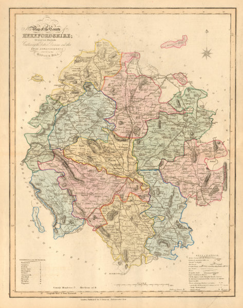 Associate Product New Map of the County of Herefordshire. DUNCAN 1833 old antique plan chart