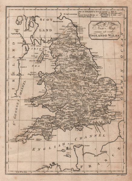 Associate Product A new map of England & Wales. PAAS 1800 old antique vintage plan chart