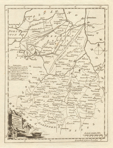 Associate Product Cambridge Shire drawn from the best Surveys… Cambridgeshire. KITCHIN 1763 map
