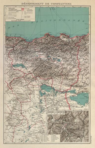 Associate Product FRENCH ALGERIA. Departement de Constantine. Inset environs & city plan 1931 map