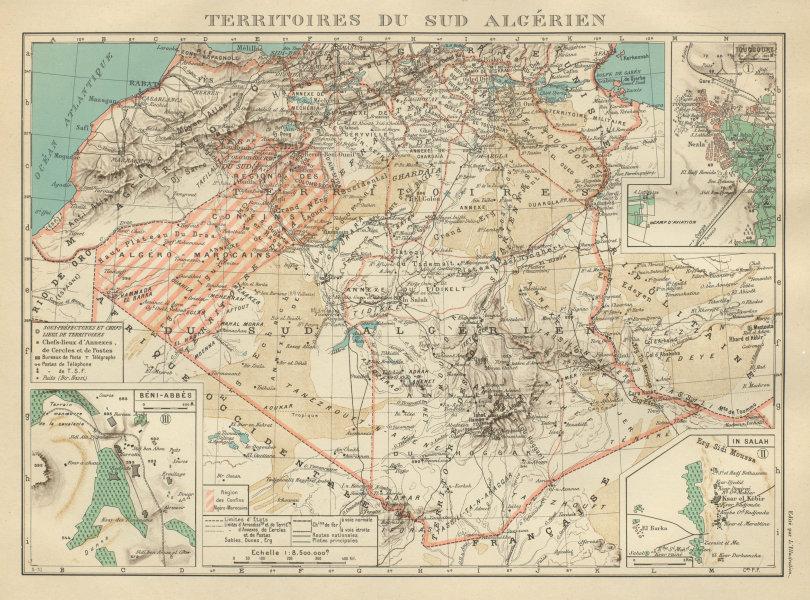 Associate Product FRENCH ALGERIA. Territoires sud Algerien. Béni-Abbès Touggourt In Salah 1931 map