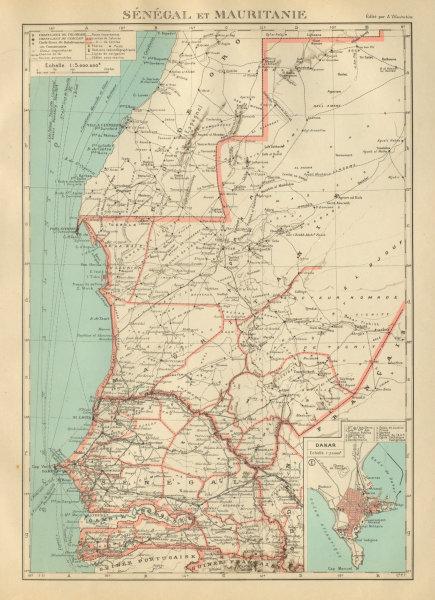 Associate Product FRENCH WEST AFRICA. Senegal & Mauritanie/Mauritania. Dakar plan 1931 old map