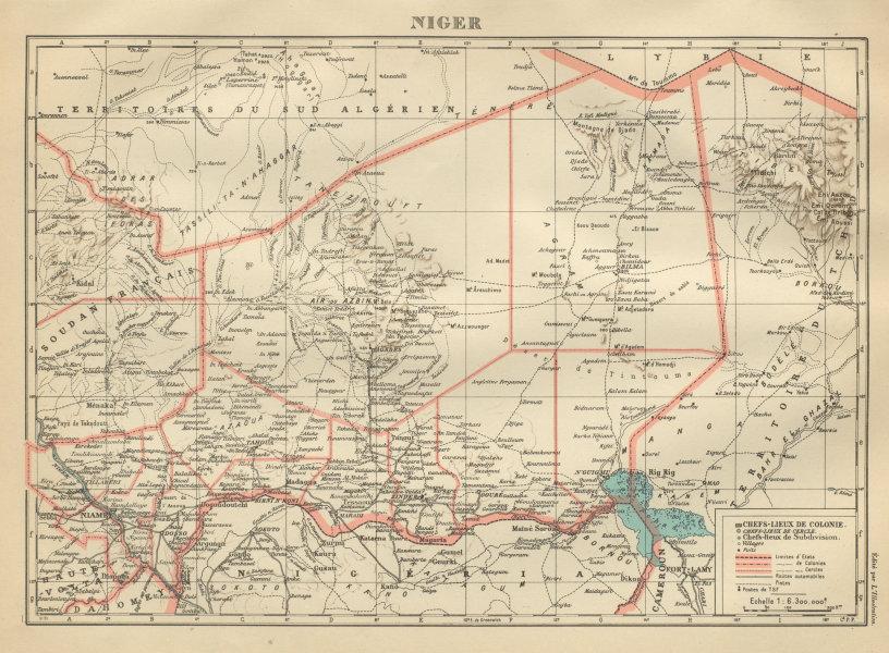 Associate Product TERRITOIRE DU NIGER. French West Africa. Afrique Occidentale Française 1931 map