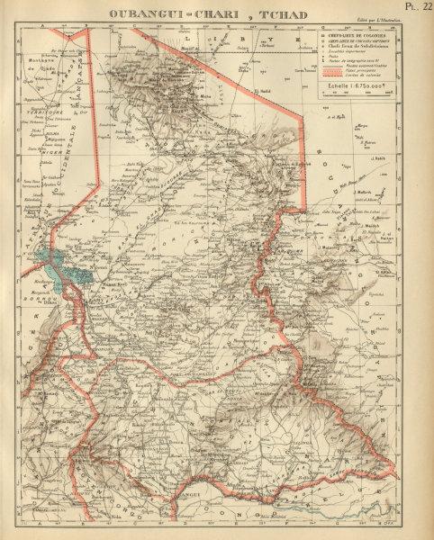 Associate Product FRENCH COLONIAL CHAD & UBANGI-SHARI (C.A.R.). Oubangui-Chari Tchad 1931 map