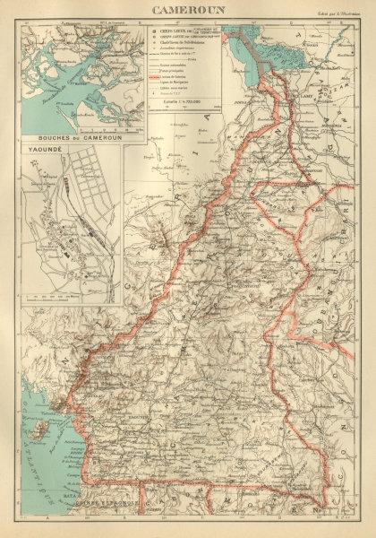 Associate Product COLONIAL CAMEROON/Cameroun. Yaoundé plan. Afrique équatoriale française 1931 map