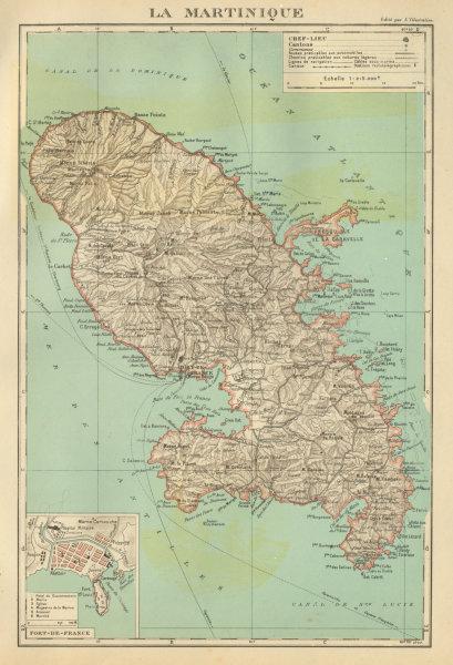 Associate Product MARTINIQUE. Fort-de-France plan. Antilles françaises French West Indies 1931 map