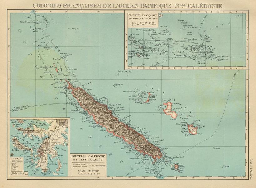 Associate Product NEW CALEDONIA. Nouvelle Caledonie. Loyalty Islands/Îles Loyauté. Nouméa 1931 map