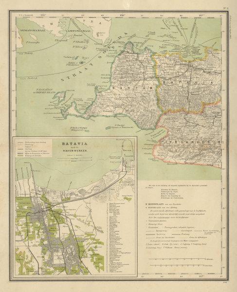 Associate Product DUTCH EAST INDIES Indonesia W JAVA Banten Batavia Jakarta DORNSEIFFEN 1902 map