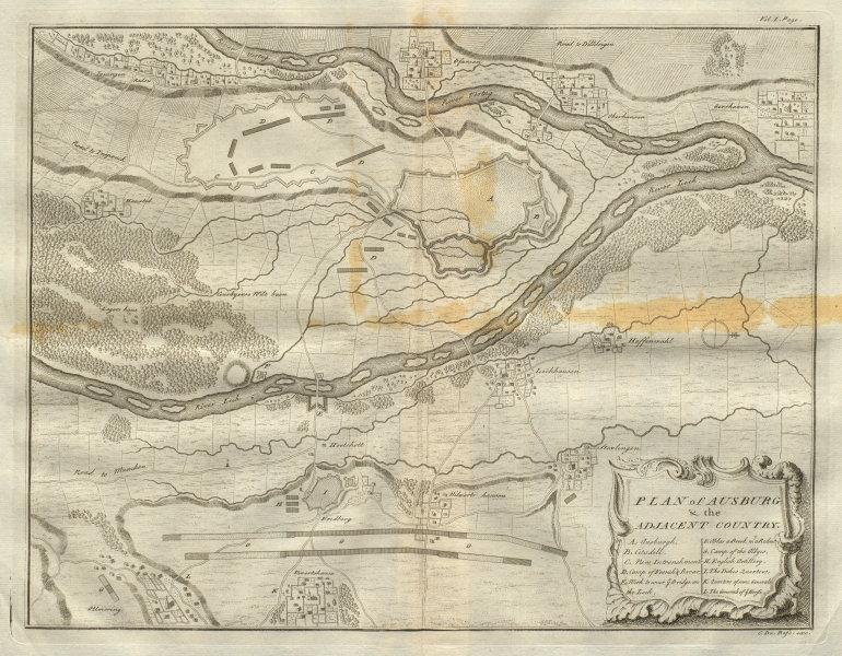 Associate Product Plan of Ausburg & the adjacent country. Augsburg, Bavaria. DU BOSC 1736 map