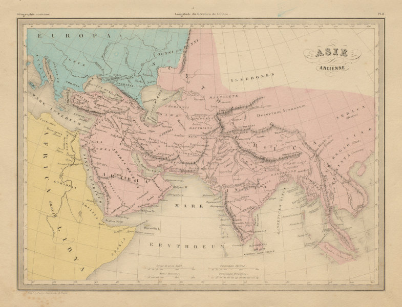 Associate Product Asie Ancienne. Ancient South Asia & Middle East. MALTE-BRUN c1871 old map