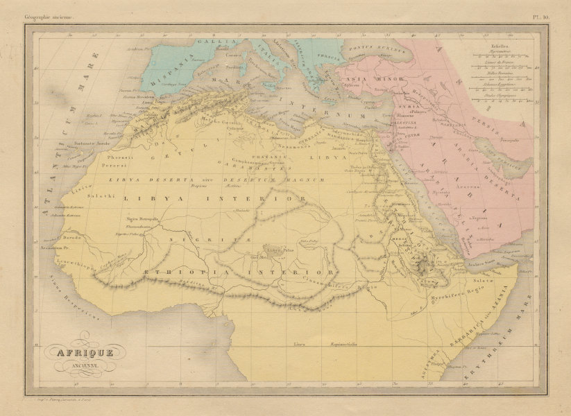 Associate Product Afrique Ancienne. Ancient North Africa. MALTE-BRUN c1871 old antique map chart