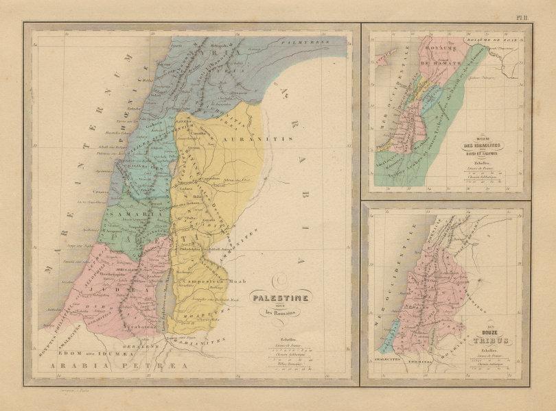 Associate Product Palestine sous Les Romains / under The Romans. Israel. MALTE-BRUN c1871 map