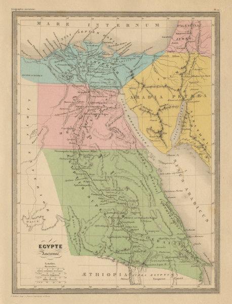 Associate Product Egypte Ancienne. Ancient Egypt. MALTE-BRUN c1871 old antique map plan chart