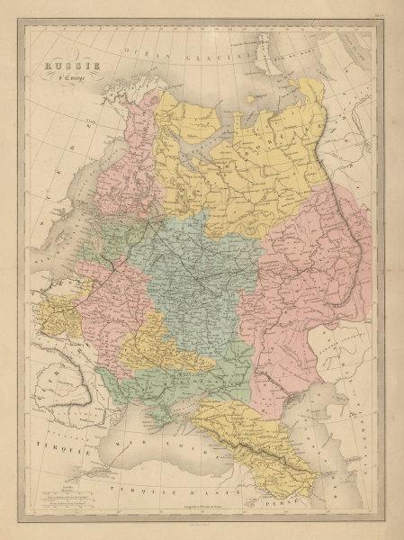 Associate Product Russie d'Europe. European Russia. Finland Caucasus Ukraine. MALTE-BRUN c1871 map
