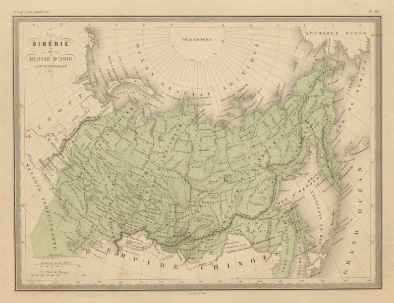 Associate Product Siberie ou Russie d'Asie Septentrionale. Siberia. MALTE-BRUN c1871 old map