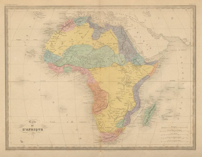 Associate Product Carte de L'Afrique. Map of Africa. Takrur Guinea Congo. MALTE-BRUN c1871