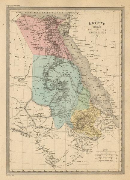 Associate Product Egypte Nubie & Abyssinie. Egypt Nubia Abyssinia. Ethiopia. MALTE-BRUN c1871 map
