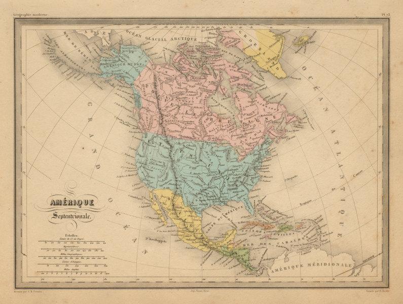 Associate Product Amérique Septentrionale. North America. Russian Alaska. MALTE-BRUN c1871 map