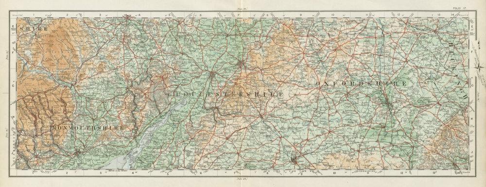 Associate Product Monmouthshire Gloucestershire Oxfordshire Cotswolds. ORDNANCE SURVEY 1922 map