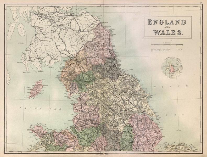 Associate Product England & Wales North Sheet. Yorkshire Lancashire. BARTHOLOMEW 1882 old map