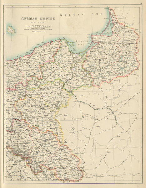 Associate Product German Empire East. Germany Poland Prussia Silesia Posen. BARTHOLOMEW 1898 map