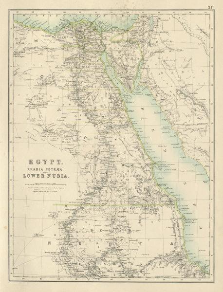 Associate Product Egypt, Arabia Petraea and Lower Nubia. Nile Valley. BARTHOLOMEW 1898 old map