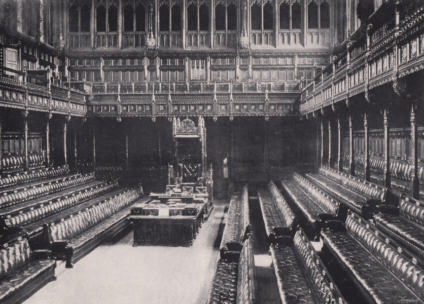 Associate Product The Houses of Parliament - Interior of the house of Commons. London 1896 print