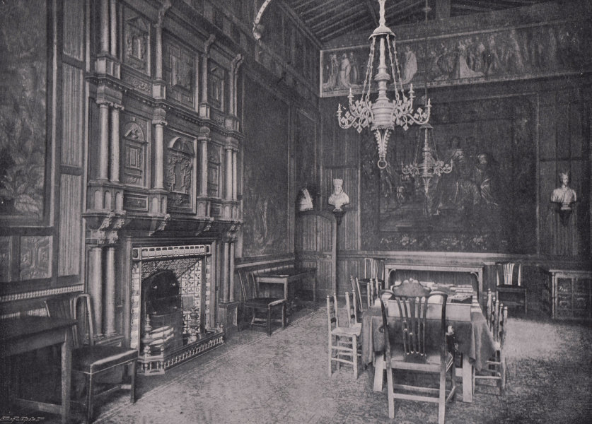 Associate Product Westminster Abbey - Interior of the Jerusalem Chamber. London 1896 old print