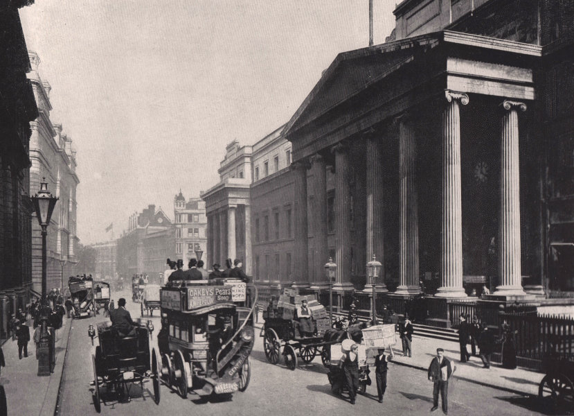 St. Martin's-Le-Grand - General view of the post office buildings. London 1896