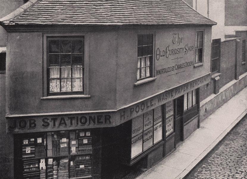 Associate Product Old Curiosity shop - A bit of old London. London 1896 antique print